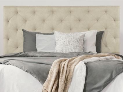 Kopfteil Bett NADRA - 160 cm - Stoff - Beige