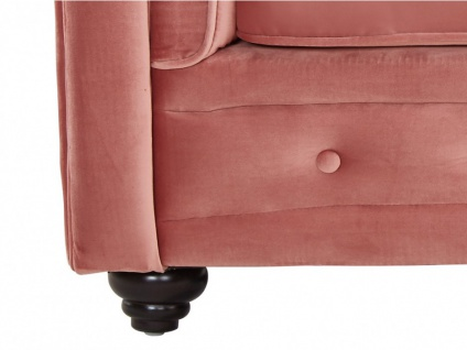 3-Sitzer-Sofa Chesterfield Samt ANNA - Rosa - Vorschau 4