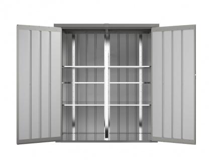 Garten-Aufbewahrungsschrank SEVY - Stahl - Grau - 1, 24 m² - Vorschau 4