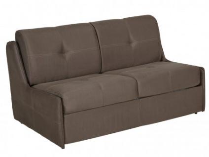 Schlafsofa 2-Sitzer Stoff Express Bettfunktion mit Matratze ALYTUS