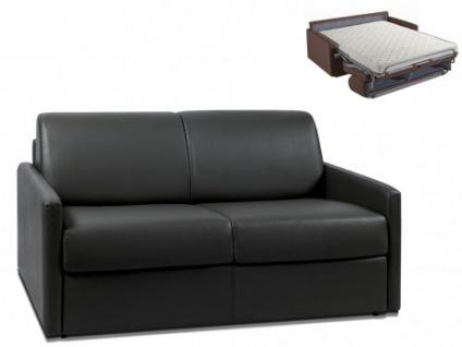 Schlafsofa 2-Sitzer CALIFE - Schwarz - Liegefläche: 120 cm - Matratzenhöhe: 14cm