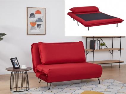 Schlafsofa 2-Sitzer LOOF - Stoff - Rot