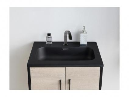 Komplettbad PHENA - Unterschrank + Waschbecken + Spiegel + Oberschrank - Holz-Optik - Vorschau 4