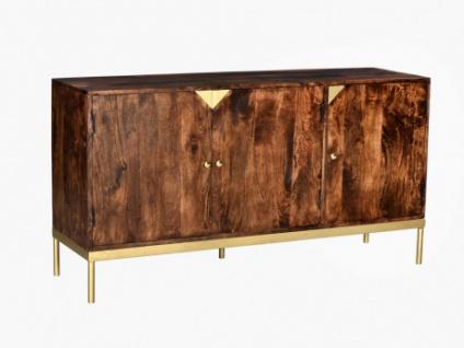 Sideboard Holz & Metall ALMARO - 3 Türen