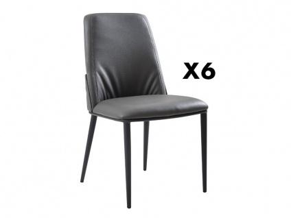 Stuhl 6er-Set COLBY - Grau