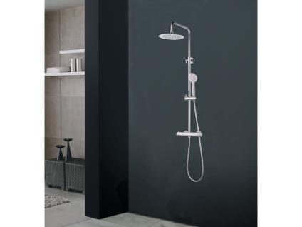 Duschsäule verchromter Edelstahl ATEYA - 126 cm
