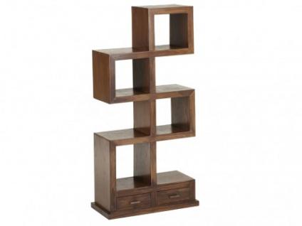 Regal Raumteiler Holz massiv Palopo II - Teak massiv - 4 Etagen