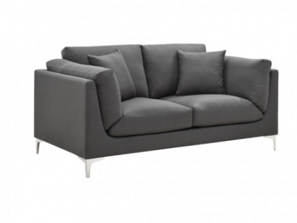 2-Sitzer-Sofa Stoff FLAKE - Anthrazit