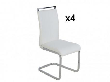 Stuhl Freischwinger 4er-Set Renata - Weiß