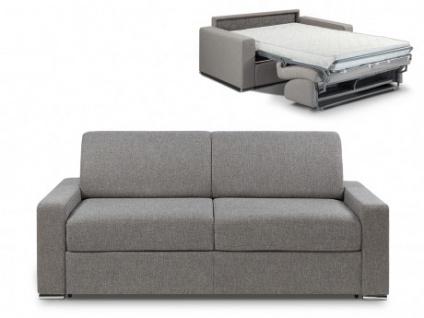 Schlafsofa 3-Sitzer Stoff CALITO - Anthrazit - Liegefläche: 140 cm - Matratzenhöhe: 22cm