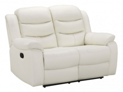 Relaxsofa Leder 2-Sitzer Pliton - Elfenbein - Vorschau 1