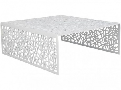 Couchtisch Design Inside Art Aluminium SPLENDEUR - Weiß