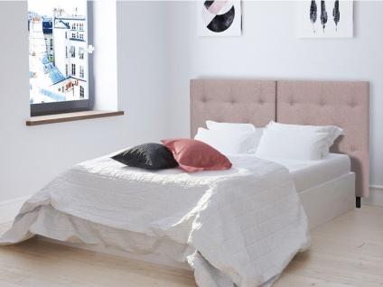 Bett-Kopfteil faltbar MILLIE - 160 cm - Stoff - Rosa