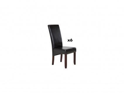 Stuhl 6er-Set ROVIGO - Braun