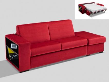 Schlafsofa 3-Sitzer Samt mit Express-Bettfunktion und Stauraum EDMOND - Bordeaux