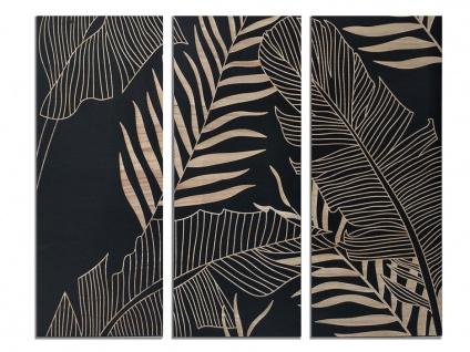 Bild 3-teilig Triptychon BOTANIA - Holz - 48x120 cm