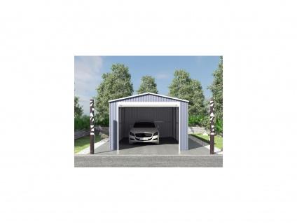 Garage mit Rolltor OCTOU - Stahl - Grau - 19, 5 m²