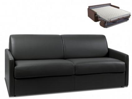 Schlafsofa 4-Sitzer CALIFE - Schwarz - Liegefläche: 160 cm - Matratzenhöhe: 14cm