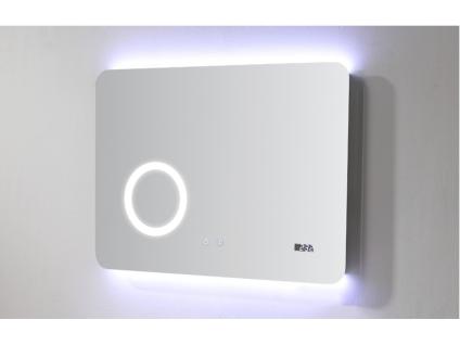Badezimmerspiegel mit LED-Beleuchtung AILEN - B 70 x H 50 cm - Mit Vergrößerungsspiegel