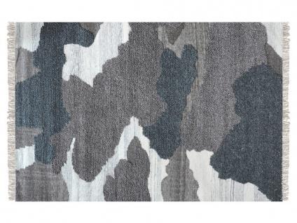 Teppich handgewebt COUNTRY von SIA - Baumwolle - 160x230cm - Anthrazit