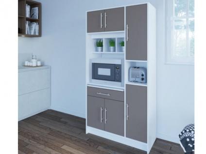 Küchenbuffet Buffetschrank MADY - Weiß & Grau