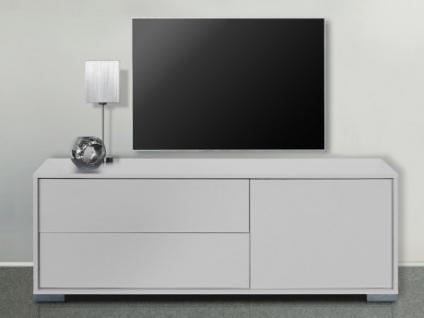 TV-Möbel KIRA - 1 Tür & 2 Schubladen - Weiß