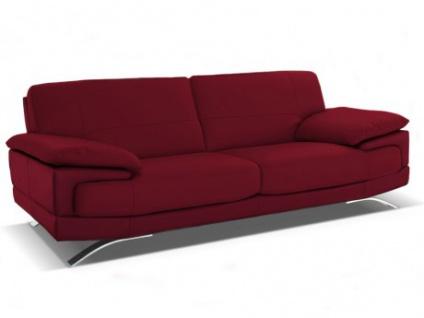 Ledersofa 3-Sitzer Emotion - Standardleder - Rot