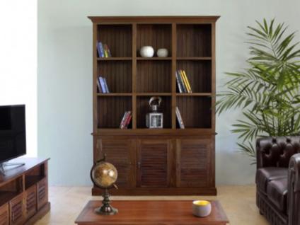 Bibliothek Holz massiv Bali II