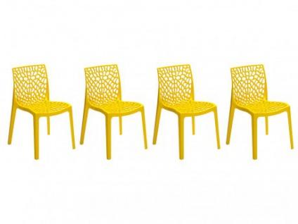 Stuhl 4er-Set Diadem - Kunststoff - Gelb