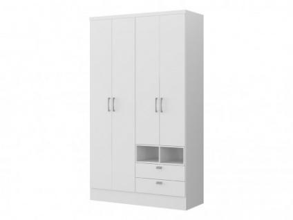 Kleiderschrank ODILON - 4 Türen & 2 Schubladen - B. 120cm
