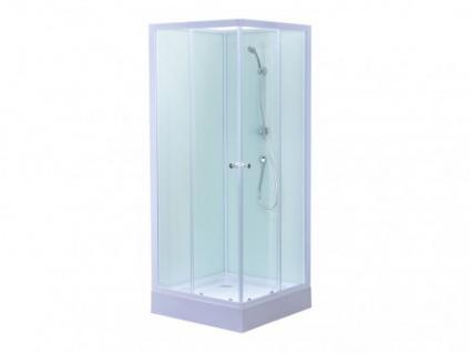 Eckdusche Glas Talia - Weiß
