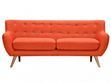 3-Sitzer-Sofa Stoff Serti - Orange