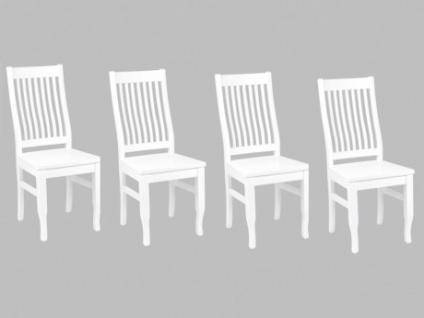 Stuhl Massivholz 4er Set Gerande
