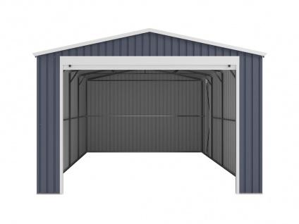 Garage mit Rolltor OCTOU - Stahl - Grau - 19, 5 m² - Vorschau 4