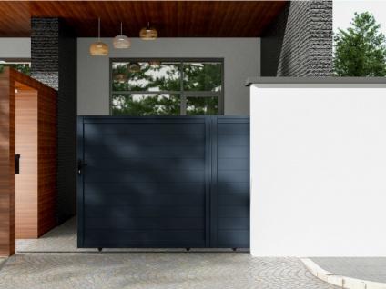 Gartentor Schiebetor NAZARIO - Aluminium - B350 x H173 cm