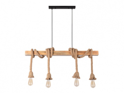 Hängeleuchte Holz & Seil CORSAIRE - 100x5x100 cm