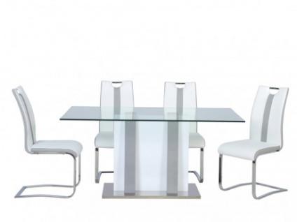 Essgruppe CIARA : Esstisch + 4 Stühle