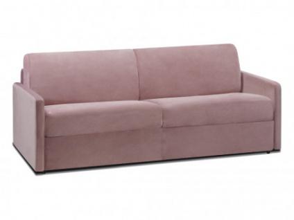 Schlafsofa 4-Sitzer Samt CALIFE - Rosa - Liegefläche: 160 cm - Matratzenhöhe: 22cm