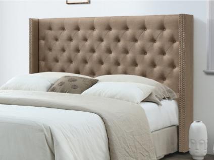 Kopfteil Bett gepolstert Stoff MASSIMO - 160 cm - Beige