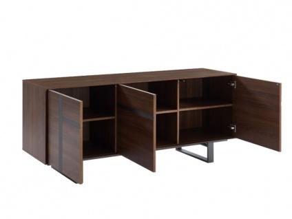 Sideboard PETILLANTE - 3 Türen & 1 Schublade - Nussholzfarben - Vorschau 4