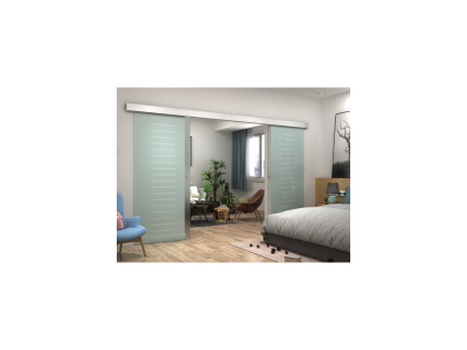 Glasschiebetür Doppeltür ASTANA - Höhe: 205