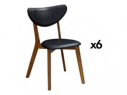 Stuhl 6er-Set Holz massiv LISETTE