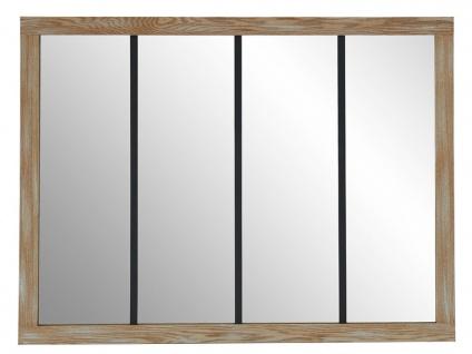 Atelier Glaswand BELFAST - Holz & Eisen - 120x90 cm