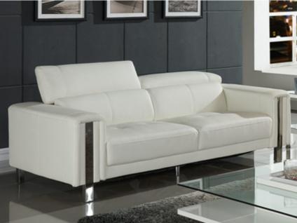 Sofa 3-sitzer Maroua - Weiß - Vorschau 2