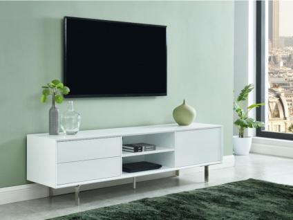 TV-Möbel CARLUTA - 1 Tür & 2 Schubladen - Weiß