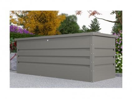 Garten-Aufbewahrungsbox TOMASO - Stahl - Grau - Volumen 582L