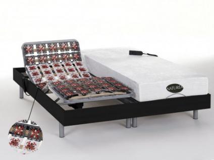 Matratzen elektrischer Lattenrost 2er-Set mit Okin-Motor Lysis III - 2x80x200cm - Schwarz