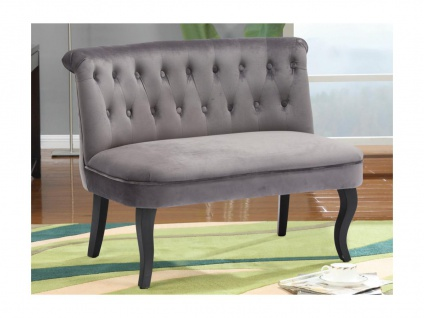 2-Sitzer-Sofa Barock Samt MELOSIA - Grau