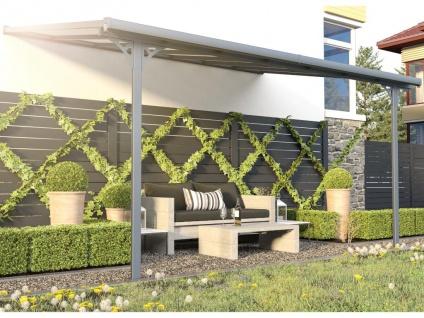 Terrassendach anlehnend ALVARO - Aluminium - 13, 2 m²