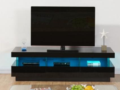 TV-Möbel Hochglanz LED Fabio - Schwarz